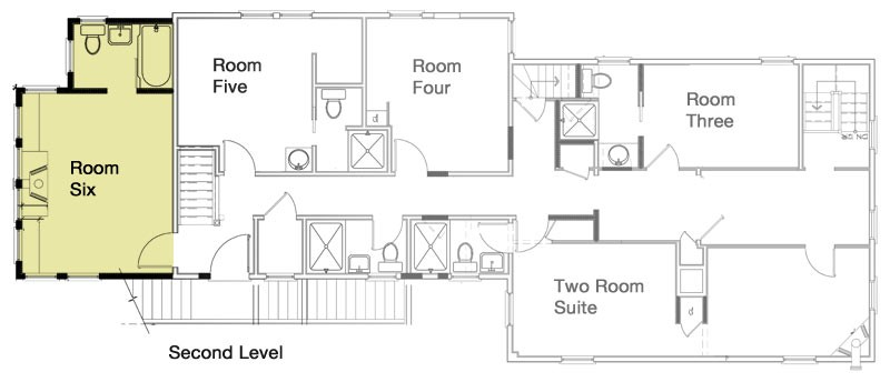 Cape cod lodging guest rooms revere guest house provincetown ma floor plan ccuart Image collections